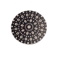 "Anodized Aluminum 5/8"" Circle, Black Design #9, 22g"