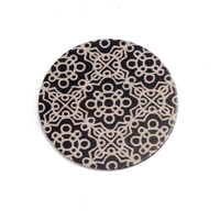 "Anodized Aluminum 5/8"" Circle, Black Design #11, 22g"
