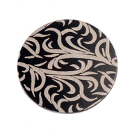 "Anodized Aluminum 3/4"" Circle, Black Design #15, 22g"