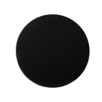 "Anodized Aluminum 1"" Circle, Black, 24g"