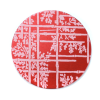 "Anodized Aluminum 1"" Circle, Red Design #6, 22g"