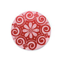 "Anodized Aluminum 3/4"" Circle, Red Design #4, 22g"
