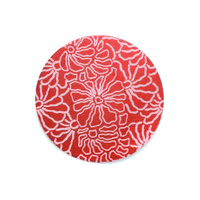 "Anodized Aluminum 3/4"" Circle, Red Design #5, 22g"