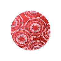 "Anodized Aluminum 3/4"" Circle, Red Design #7, 22g"
