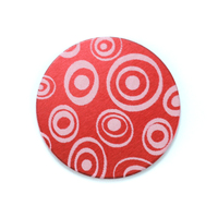 "Anodized Aluminum 3/4"" Circle, Red Design #13, 22g"