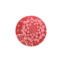 "Anodized Aluminum 5/8"" Circle, Red Design #3, 22g"