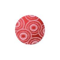 "Anodized Aluminum 5/8"" Circle, Red Design #7, 22g"
