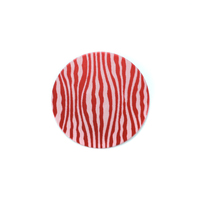"Anodized Aluminum 5/8"" Circle, Red Design #18, 22g"