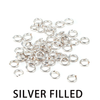 Silver Filled 3.5mm I.D. 18 Gauge Jump Rings, pack of 50