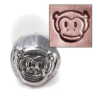 Monkey Head Design Stamp