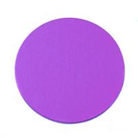 "Anodized Aluminum 3/4"" Circle, Violet, 24g"