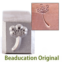 Bristly Flower Design Stamp-Beaducation Original