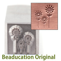 3 Flowers Design Stamp-Beaducation Original