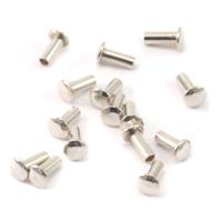 "Sterling Silver Hollow 1/16"" Rivets, 5/32"" Long"
