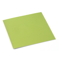 "Anodized Aluminum Sheet, 3"" X 3"", 24g, Lime"