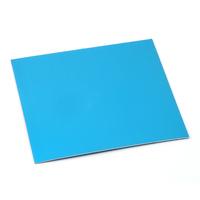 """Anodized Aluminum Sheet, 3"""" X 3"""", 24g, Turquoise"""