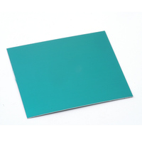 "Anodized Aluminum Sheet, 3"" X 3"", 24g, Teal"