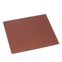 "Anodized Aluminum Sheet, 3"" X 3"", 24g, Bronze"