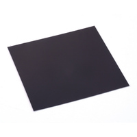 "Anodized Aluminum Sheet, 3"" X 3"", 24g, Black"