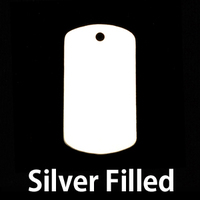 Silver Filled Medium Dog Tag (no notch), 24g
