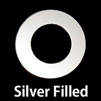 "Silver Filled 7/8"" Washer, 1/2"" ID, 24g"