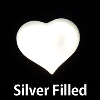 Silver Filled Medium Puffy Heart, 24g