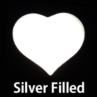 Silver Filled Large Puffy Heart, 24g