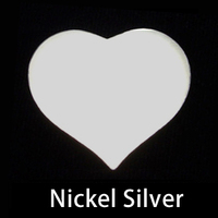 Nickel Silver Large Puffy Heart, 20g