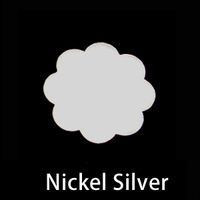 Nickel Silver Large 8 Petal Flower, 24g
