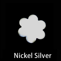 Nickel Silver Small 6 Petal Flower, 24g