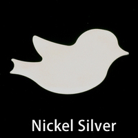 Nickel Silver Winged Bird Blank, 24g