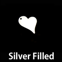 Silver Filled Stylized Heart Tag, 24g