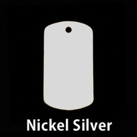 Nickel Silver Medium Dog Tag (no notch), 24g