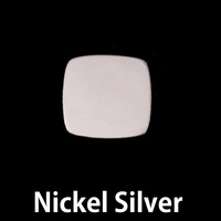 Nickel Silver Small Rounded Square, 20g
