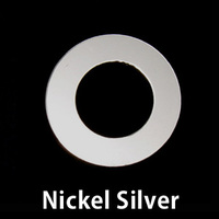 "Nickel Silver 7/8"" Washer, 1/2"" ID, 24g"