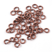 Antique Copper Finish 3mm I.D. 18 Gauge Jump Rings, 5gm pack