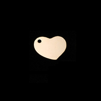 Gold Filled Heart Tag with Side Hole, 22g