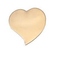 Brass Large Stylized Heart, 24g