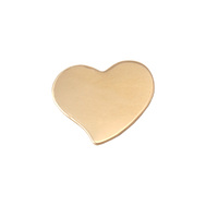 Brass Small Stylized Heart, 24g