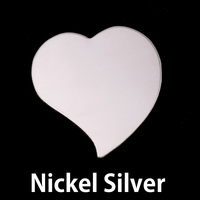 Nickel Silver Large Stylized Heart, 20g