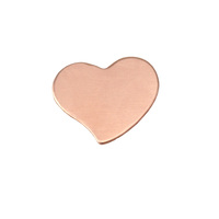 Copper Small Stylized Heart, 24g