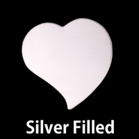 Silver Filled Large Stylized Heart, 24g
