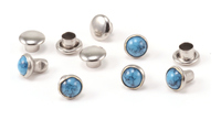 "Faux Turquoise 5/32"" Snap Rivets, 5mm, 5 pk"