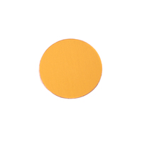 "Anodized Aluminum 1/2"" Circle, Gold, 24g"