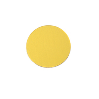 "Anodized Aluminum 1/2"" Circle, Yellow, 24g"