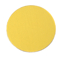 "Anodized Aluminum 1"" Circle, Yellow, 24g"
