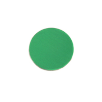 "Anodized Aluminum 1/2"" Circle, Kelly Green, 24g"