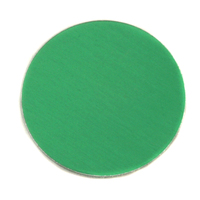 "Anodized Aluminum 1"" Circle, Kelly Green, 24g"