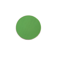"Anodized Aluminum 1/2"" Circle, Lime Green, 24g"