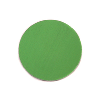 "Anodized Aluminum 3/4"" Circle, Lime Green, 24g"